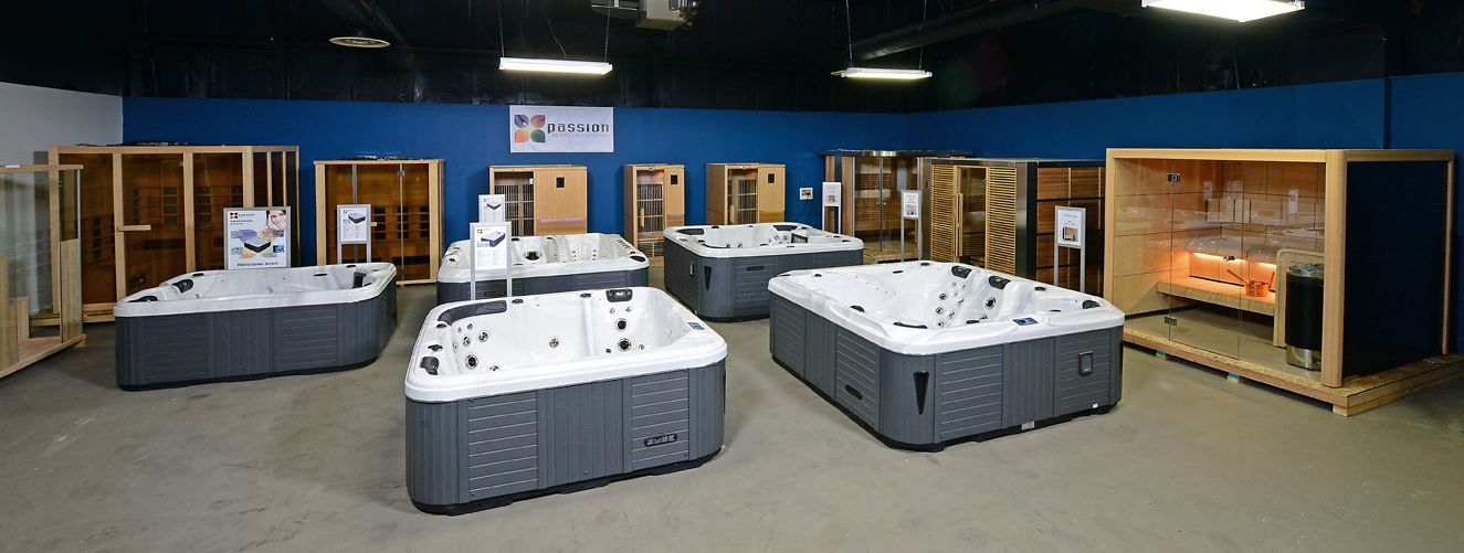 Passion Spas USA Factory Showroom interior